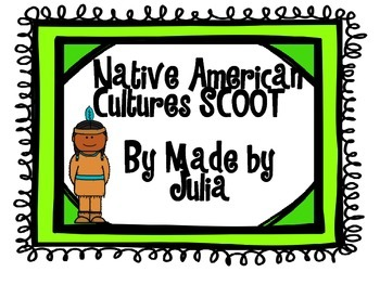 Native American Tribes & Culture SCOOT-  great for GA Mile