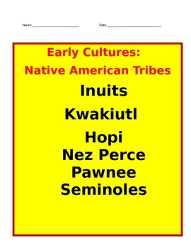 Native American Tribes INTERACTIVE NOTES-