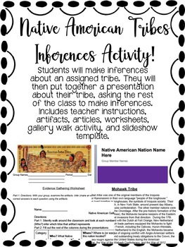 Native American Tribes Inferences Activity!
