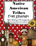 Native American Tribes Informational Text Structure Writing Project & Comparison