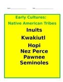Native American Tribes PowerPoint with Interactive Notes 4th Social Studies - CC