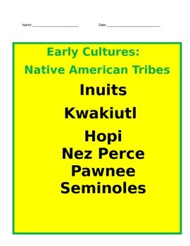 Native American Tribes PowerPoint with Interactive Notes 4