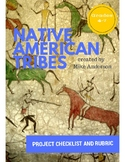 Native American Tribes Project - Checklist and Rubric