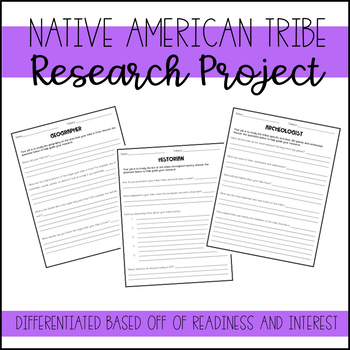 Native American Tribes Research Project