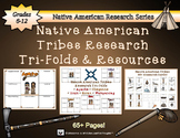 Native American Tribes Research Tri-Folds and Graphic Organizers