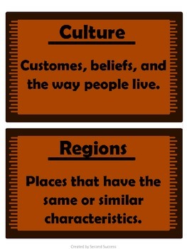 Native American Tribes Vocabulary Cards