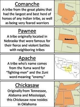 Native American Tribes Word Wall Cards