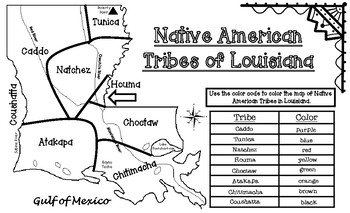 Native American Tribes of Louisiana Maps
