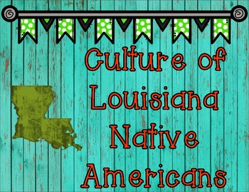 Native American Tribes of Louisiana Research Graphic Organizer