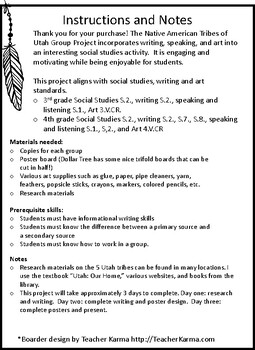 Native American Tribes of Utah Group Project