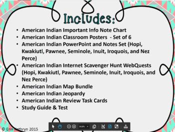American Indian Unit Bundle - Hopi, Inuit, Kwakiutl, Pawnee, Seminole, Nez Perce