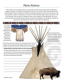 Native American Unit Packet