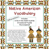 Native American Unit Vocabulary