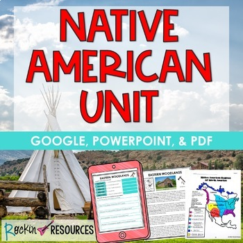 Native American Unit | Native Americans and Regions | Distance Learning | GOOGLE