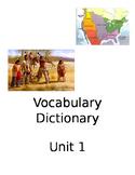 Native American Vocabulary Dictionary