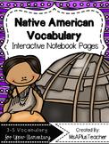 Native American Vocabulary Interactive Notes