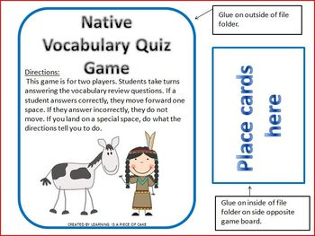 Native American Vocabulary Pack