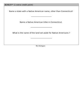 Native American Vocabulary Quiz