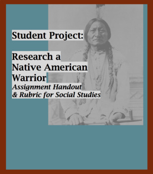 Native American Warrior Research and Poster - Assignment Handout, Rubric, Photos