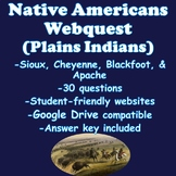 Plains Indians Webquest- Sioux, Cheyenne, Blackfoot, and Apache