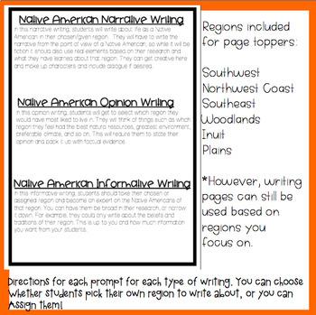 Native American Writing Unit
