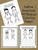 Native American Writing and Coloring Pages