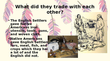 Native American and European Settlers PPT