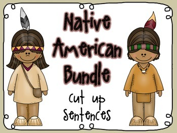 Native American cut up sentences BUNDLE