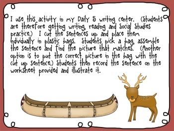 Native American cut up sentences BUNDLE