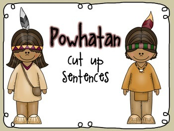 Native American cut up sentences (Powhatan)
