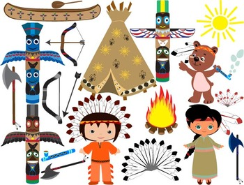 Native American, indian,Clip Art - PNG,EPS-Digital Clip Ar