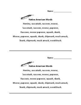 Native American poem