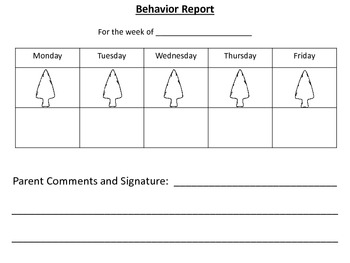 Native American themed Behavior Chart