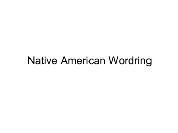 Native American word wall words