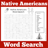 Native Americans Worksheet  | Native American Word Search Activity