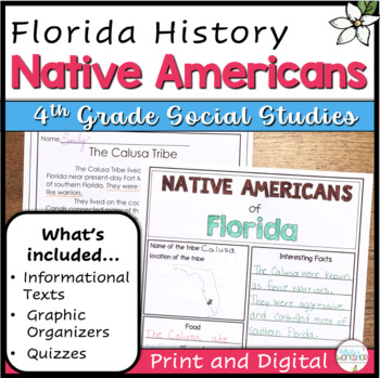 Florida History: Native Americans Text and Activities