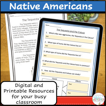Florida Native Americans Text and Activities