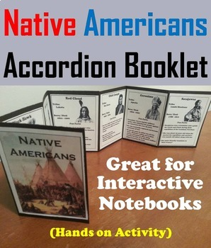 Native American Indians Activity/ Foldable Sacagawea, Iroquois, Sitting Bull etc