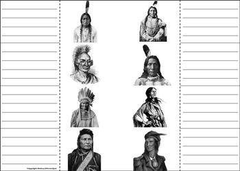 Native American Unit Activity/ Foldable: Sacagawea, Iroquois, Sitting Bull, etc.