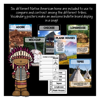 Native Americans Activities & Vocabulary Posters