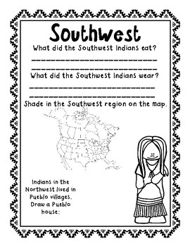Native Americans Activity Book & Assessment (Reflects Georgia standards change!)