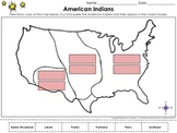 Native Americans: American Indians and Their Regions Cut and Paste Activity