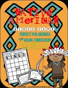 Native Americans BINGO Game