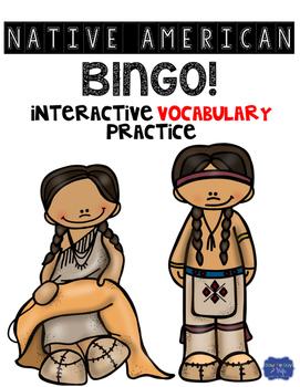 Native Americans Bingo Vocabulary Game