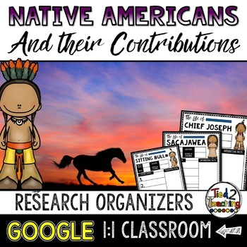 Native Americans Biography Report & Informational Writing: Google Classroom