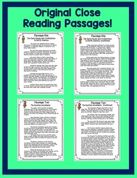Native Americans Bundle with Text Dependent Questions for CLOSE Reading