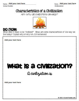 Native Americans Characteristics of a Civilization