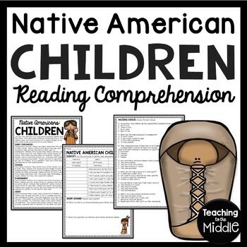 Native Americans Children Reading Comprehension Worksheet