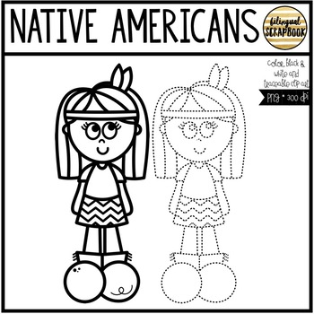 Native Americans (Clip Art for Personal & Commercial Use)