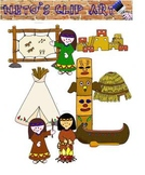 Native Americans Clipart set